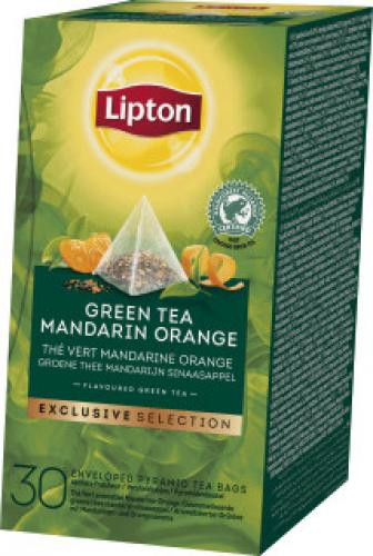Lipton Tee Grüner Tee Mandarine Orange Exclusive Selection, 30 Beutel