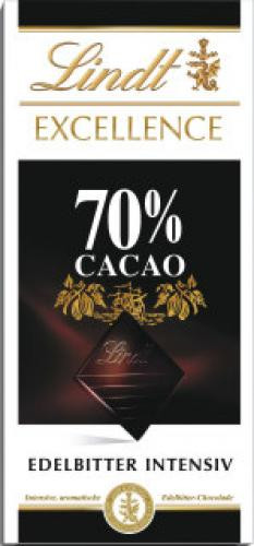 Lindt Excellence 70% Edelbitter intensiv, 100g