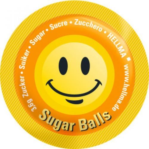 Hellma Zucker Sugar Balls Happy 400x3,6g