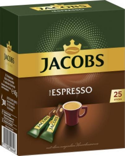 Jacobs Espresso löslich 45g, 25 Sticks
