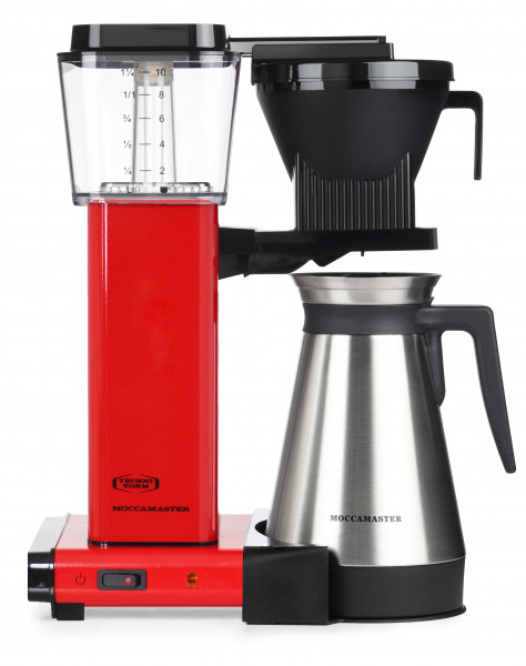 B-Ware #5165 - Moccamaster KBGT 741 Red, mit Thermoskanne