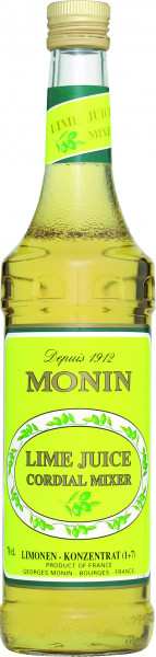 Monin Sirup Lime Juice, 700ml Flasche
