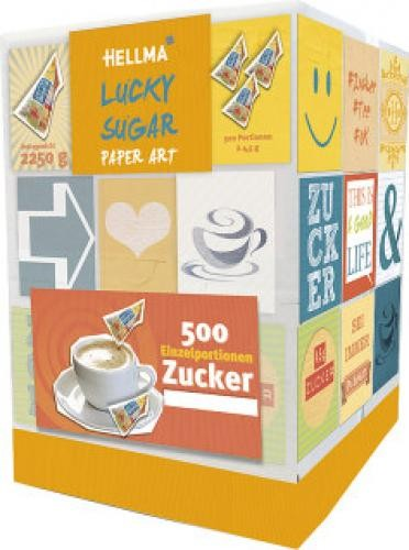 Hellma Zucker Lucky-Sugar Paper Art 500x4,5g